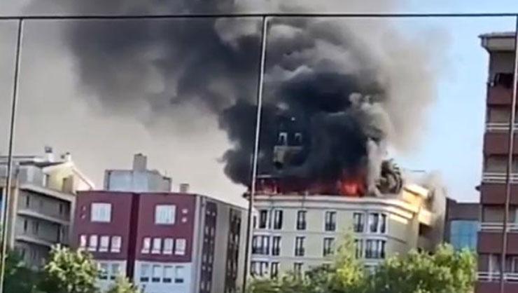 Ankara'da korkutan yangın! Otel tahliye edildi