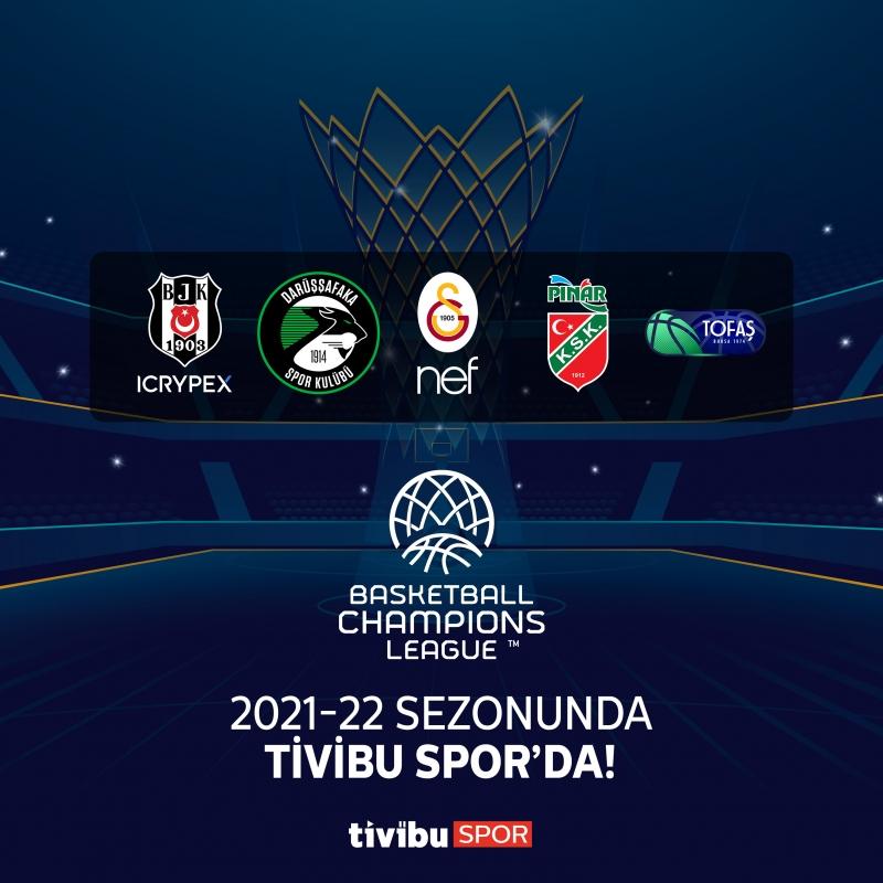 Basketbol Şampiyonlar Ligi, Tivibu Spor'da