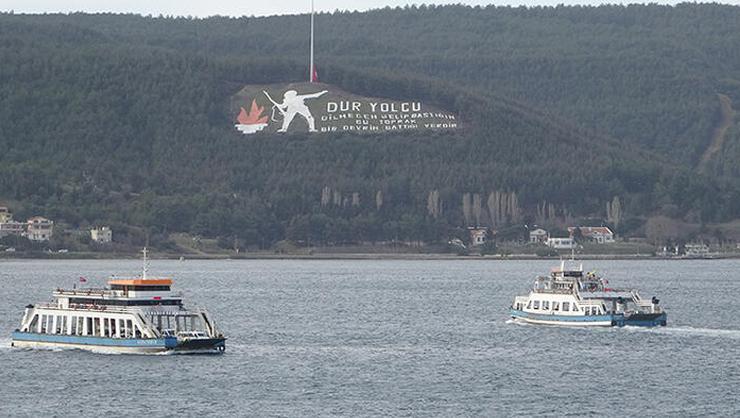 Çanakkalede tüm feribot seferleri iptal edildi