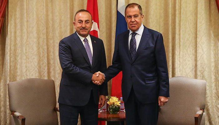 Dışişleri Bakanı Çavuşoğlu Lavrov'la görüştü