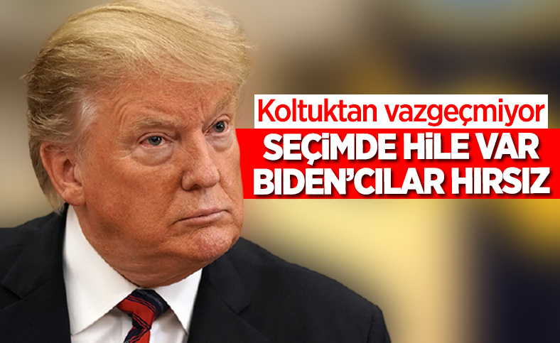 Donald Trump: Bu çalıntı bir seçimdi
