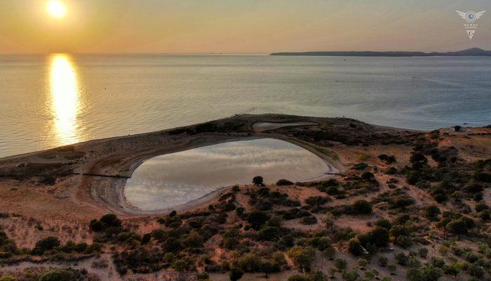 Dünyada sadece 8 yerde bulunuyor! Çanakkale'deki pembe göle yoğun ilgi