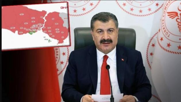 Fahrettin Koca: İstanbul'da yüzde 50'ye varan azalma var