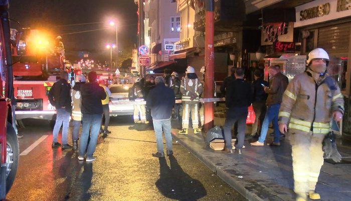 Fatih'te gece vakti korkutan otel yangını