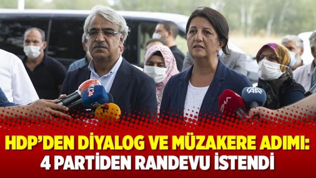 HDP'den diyalog ve müzakere adımı: 4 partiden randevu istendi