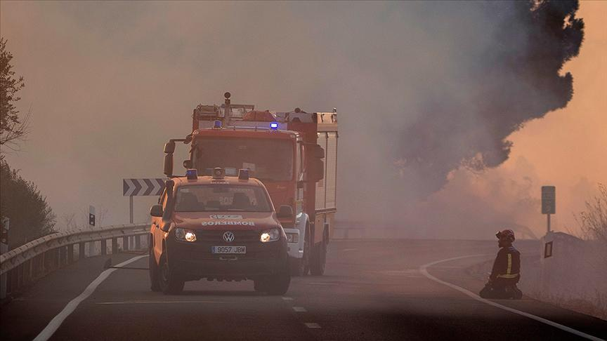 İspanyada yangın felaketi! 6 bin hektardan fazla alan kül oldu