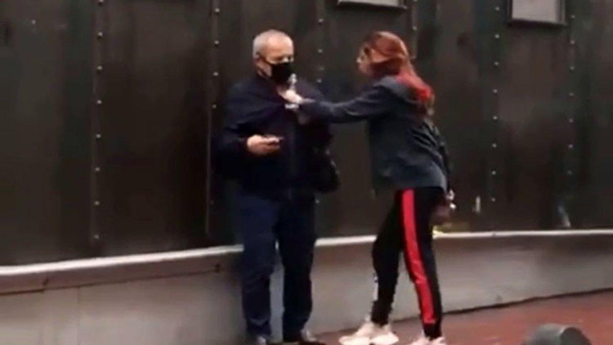 İstanbul'da alkollü genç kız, yaşlı adama saldırdı