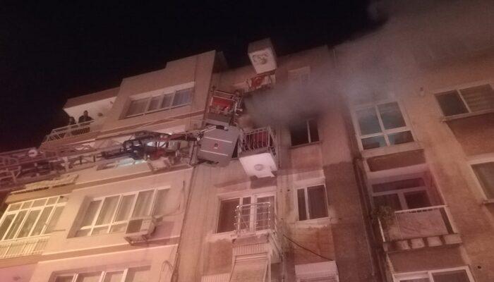 İzmir'de yangın paniği! 1 kişi hastaneye kaldırıldı