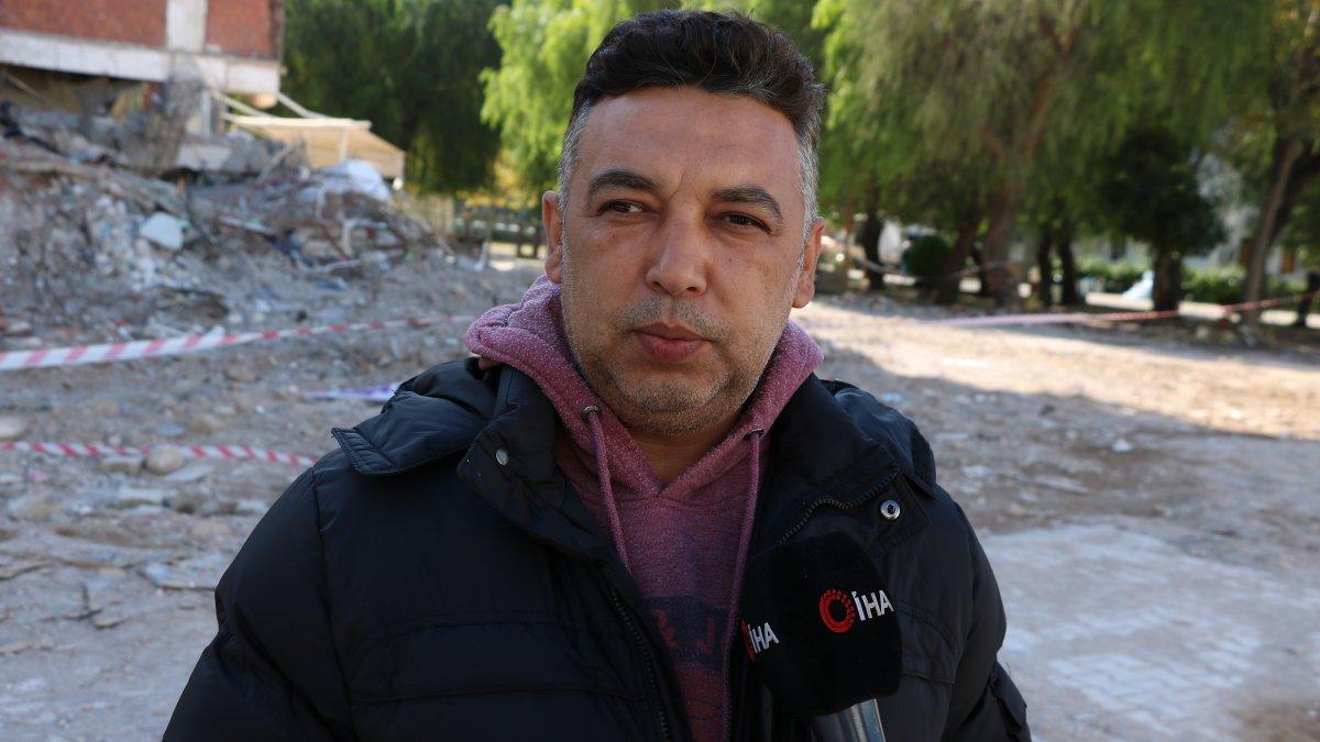 İzmir'deki depremde hayatını kaybedenleri teşhis eden apartman görevlisi o anları anlattı