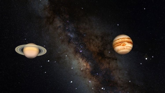 Jüpiter ve Satürn bugün kavuşuyor
