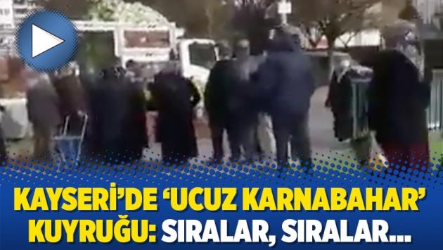 Kayseri'de 'ucuz karnabahar' kuyruğu: Sıralar, sıralar…