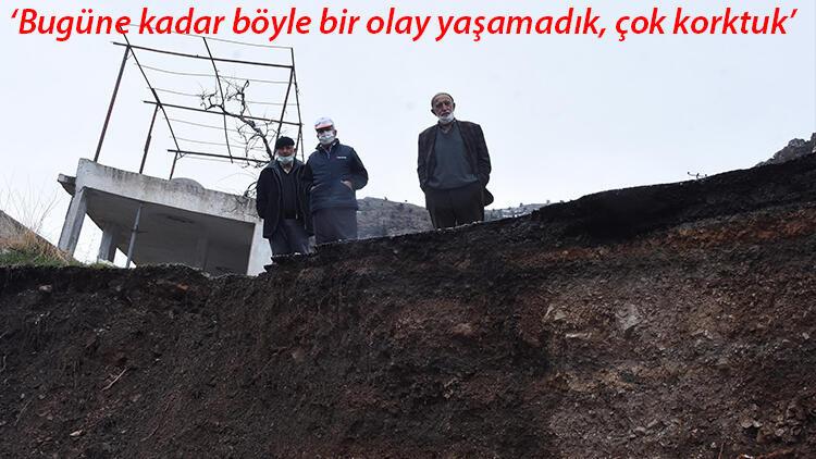 Konya'da yol çöktü! Neye uğradıklarını şaşırdılar