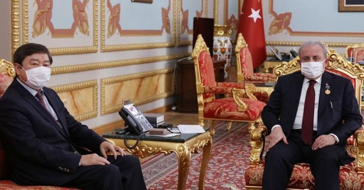 Meclis Başkanı Şentop'a Abay Kunanbay Madalyası Takdim Edildi