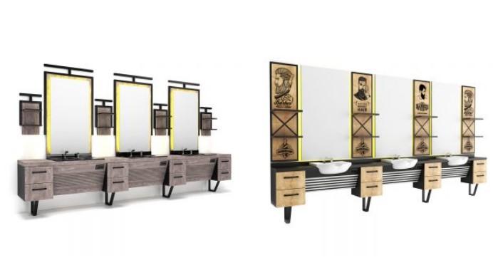 Modern Tasarımlı Berber Salonları