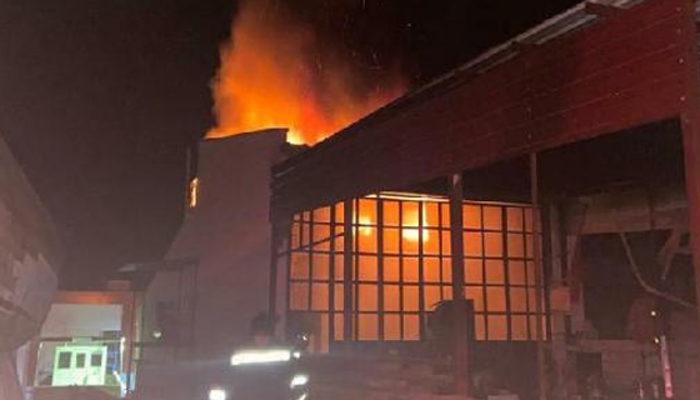 Muğla'da atölyede feci yangın! 1 işçi hayatını kaybetti