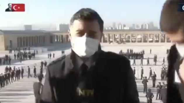 NTV'nin Anıtkabir'deki canlı yayını zorla kesildi