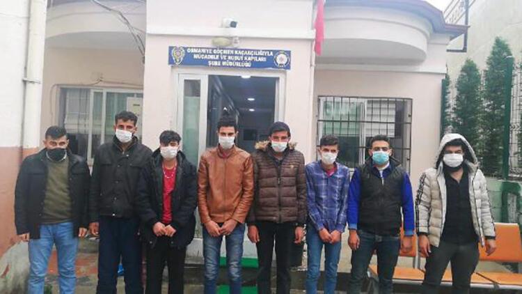 Osmaniye'de Suriye uyruklu 7 kaçak göçmen yakalandı