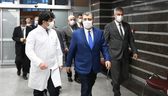 Sağlık Bakanı Koca'dan Gaziosmanpaşa Eğitim ve Araştırma Hastanesine ziyaret