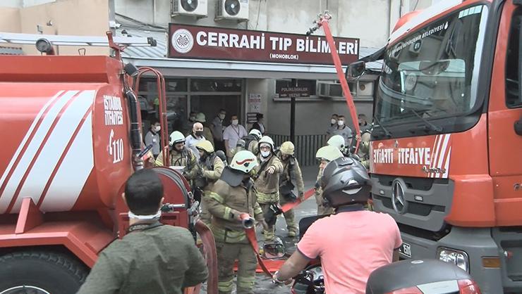 Son dakika...Çapadaki İstanbul Üniversitesi İstanbul Tıp Fakültesinde...