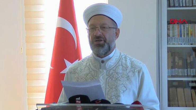 Son dakika... Diyanet İşleri Başkanı Prof. Dr. Ali Erbaştan...