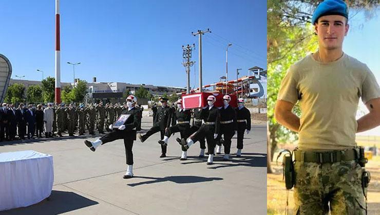Son dakika: Mardinde şehit olan Cihan Çifcibaşı için tören düzenlendi