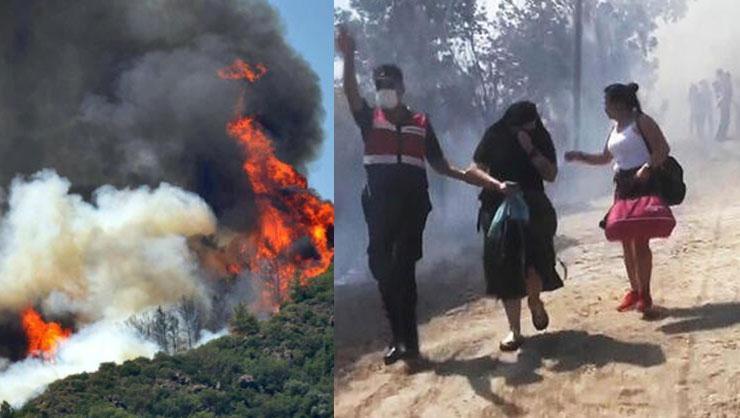 Son dakika: Muğla Ulada yangın! Kara yolu ulaşıma kapatıldı,...