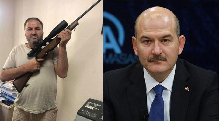 Soylu'ya tüfekle destek veren din öğretmeni için çağrı: Gerekli ceza uygulansın