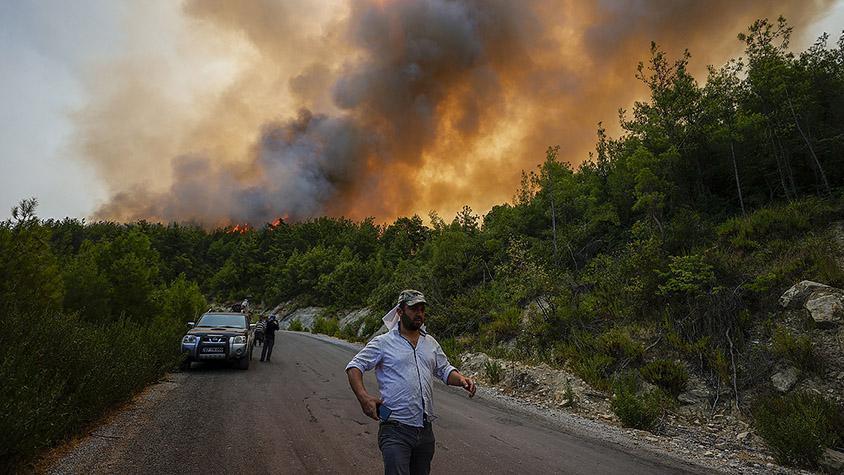 Türkiyedeki orman yangınlarında son durum