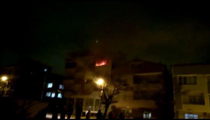 Tuzla'da apartman dairesi alev alev yandı