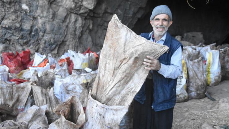 Yarasa gübresini mağaradan çıkartıp torbasını 350 TLden satıyor