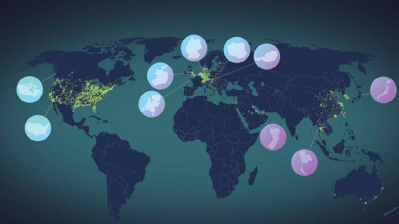 5G'nin 2020 Yılında Dünyaya Nasıl Yayıldığını Gösteren Harita