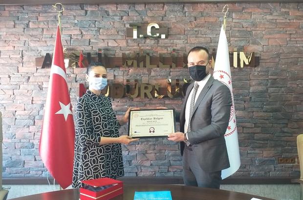 Ağrı Milli Eğitim Müdürü Tekin, eTwinning'de başarılı okul ve öğretmenleri ödüllendirdi