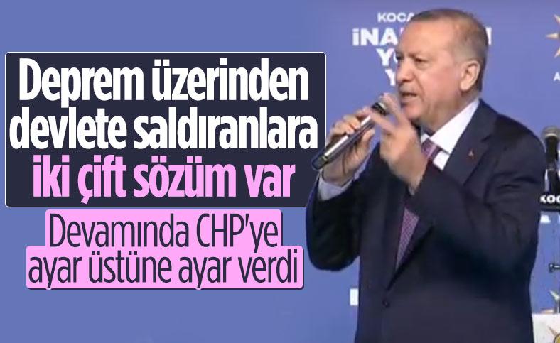 Cumhurbaşkanı Erdoğan: CHP İzmir'de enkaz altında kaldı