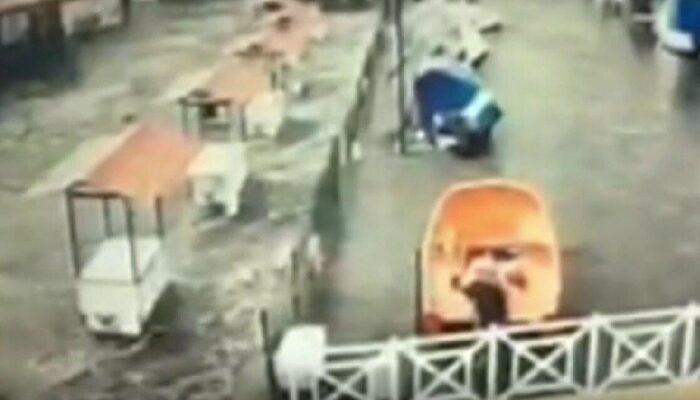 İzmir depreminde meydana gelen tsunamiden yeni görüntüler ortaya çıktı