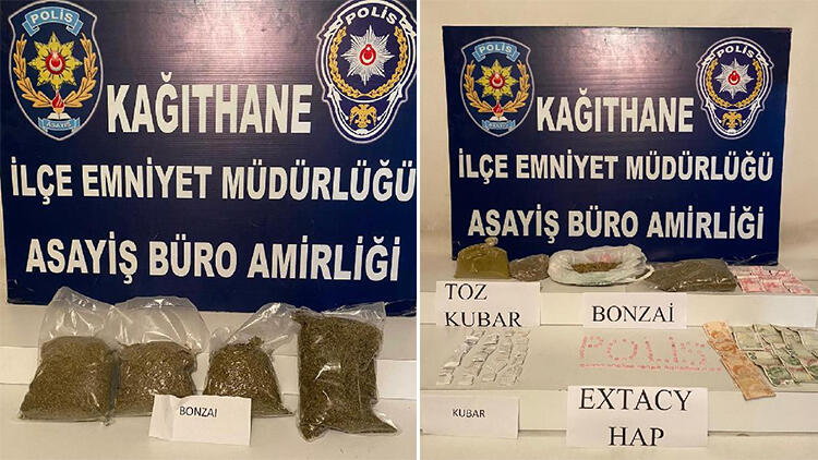 Kağıthane'de dört ayrı operasyonda 87 kilo uyuşturucu ele geçirildi