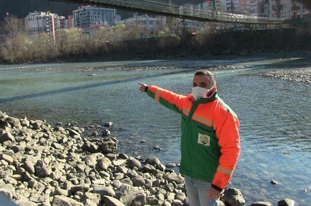Karacayı kurtarmak için Çoruh nehrine atlayan belediye çalışanı yaşadığı o anları anlattı