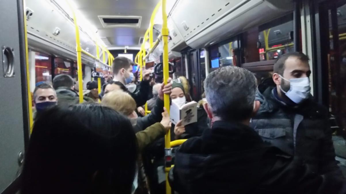 Koronavirüs unutuldu! Kısıtlama öncesi toplu taşımada dikkat çeken yoğunluk