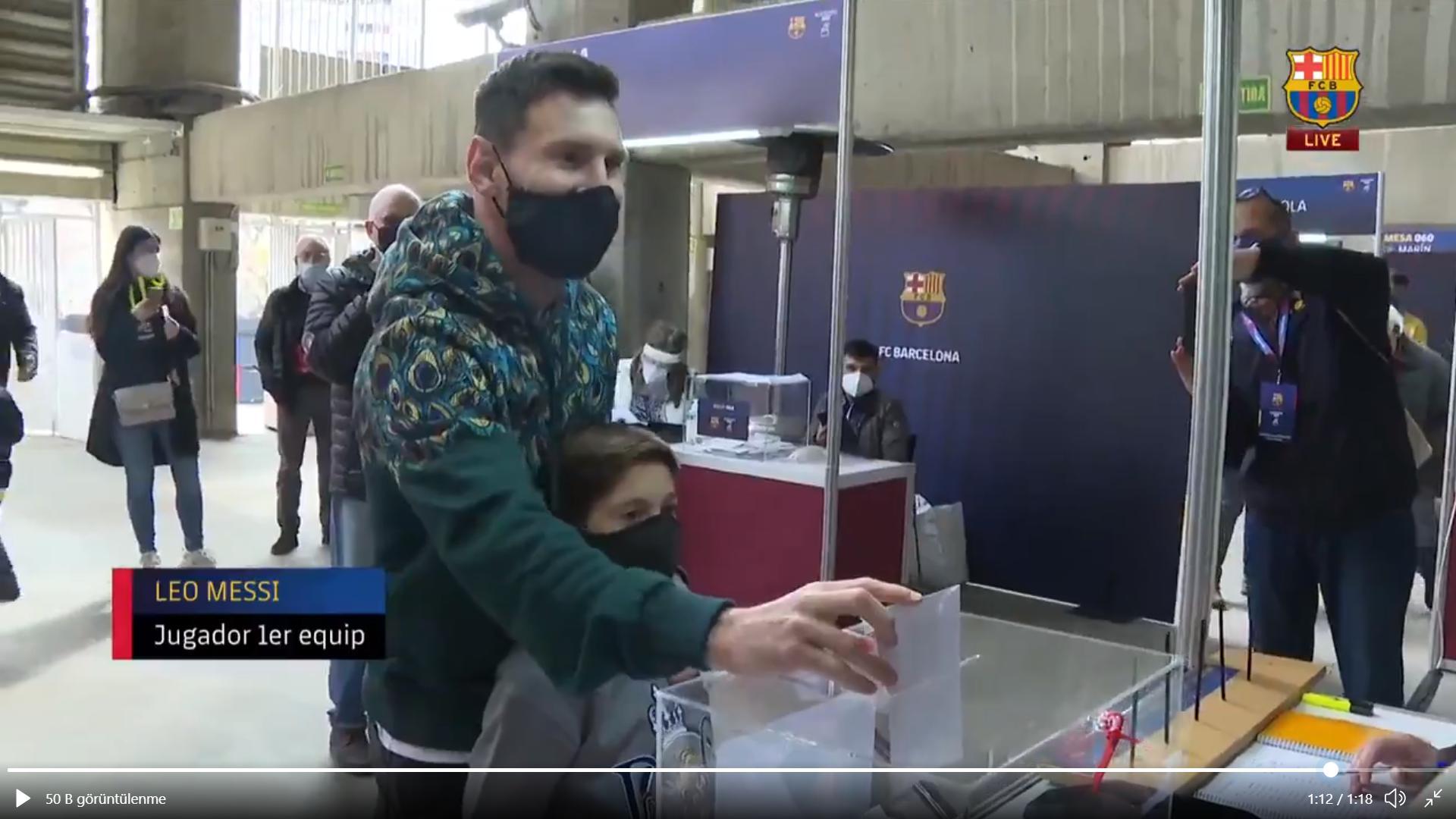 Lionel Messi oy kullandı: Sandıkları terk etmiyor