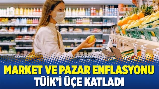 Market ve pazar enflasyonu TÜİK'i üçe katladı