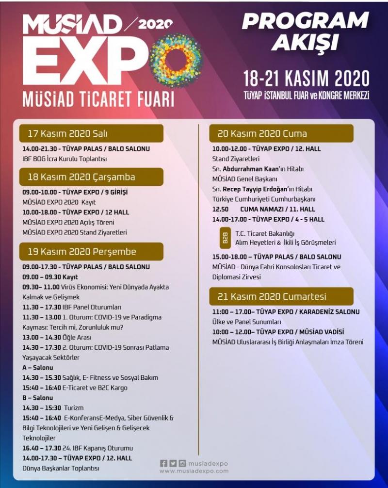 MÜSİAD EXPO 2020 Ticaret Fuarı Kapılarını Açıyor