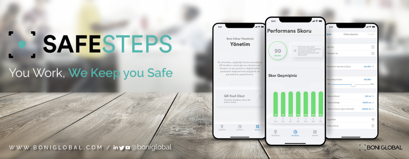 Safe Steps, HES Kodu kontrolünü işyerlerindeki Sosyal Mesafe uygulamasına ekledi