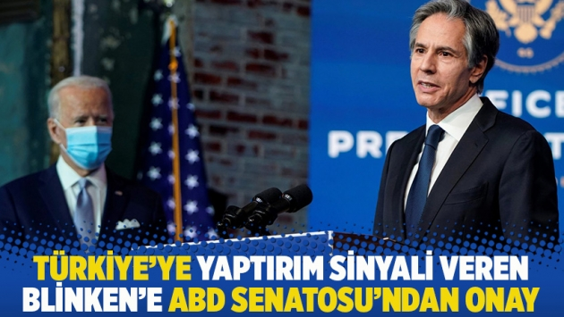 Türkiye'ye yaptırım sinyali veren Blinken'e ABD Senatosu'ndan onay